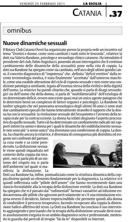 """Valeria Randone per """"La Sicilia"""""""