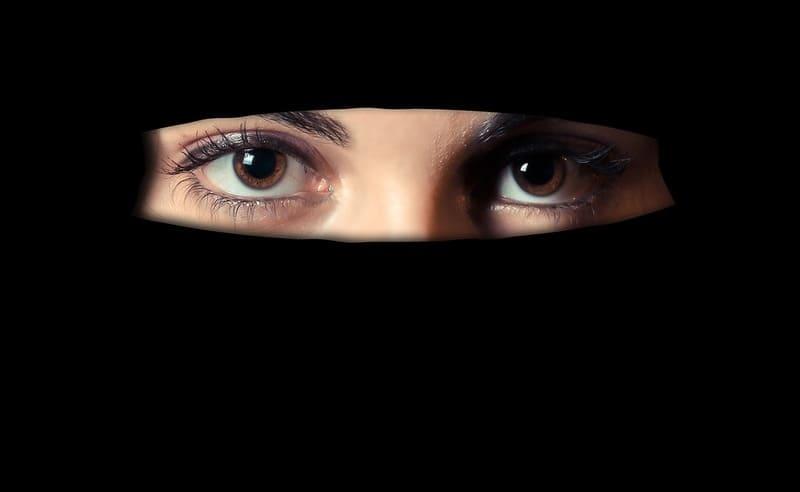 ipad con il burqa